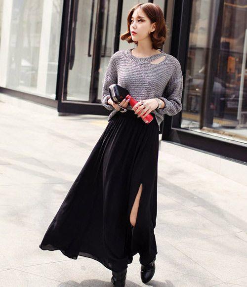 6 cách mix chân váy theo xu hướng thời trang thu đông 2017
