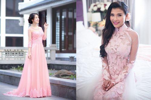Cách chọn áo dài cho cô dâu béo