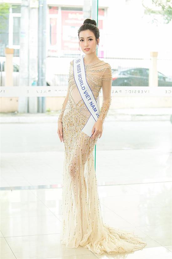 Mỹ Linh xuất hiện đầy rạng rỡ trước ngày dự thi Miss World 2017