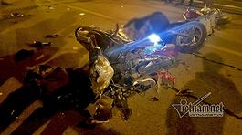 Tai nạn trên cầu vượt Thái Hà lúc nửa đêm, 3 người thương vong