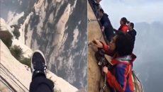 Đứng treo leo trên vách núi dựng đứng, bạn có cảm giác như thế nào