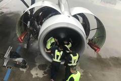 Hủy chuyến bay vì khách ném tiền xu vào động cơ