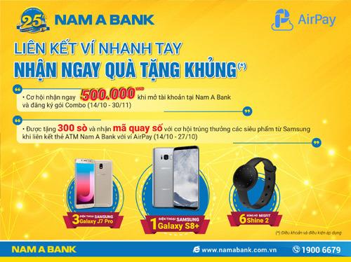 Nạp ví AirPay, nhận quà khủng từ Nam A Bank