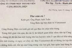 Cảng Hải Phòng gửi thư cảm ơn VietNamNet vụ 4 vạn tấn lưu huỳnh