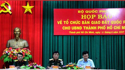 Bộ quốc phòng, thiếu tướng Nguyễn Phương Diện, họp báo, dự án