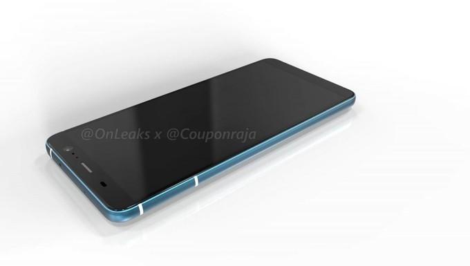 Ảnh chụp HTC U11 Plus với mặt lưng sáng bóng