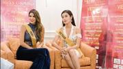 Huyền My trả lời phỏng vấn bằng tiếng Anh tại Hoa hậu hoà bình Thế giới