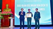 Khai trương báo QĐND điện tử tiếng Lào, tiếng Khmer