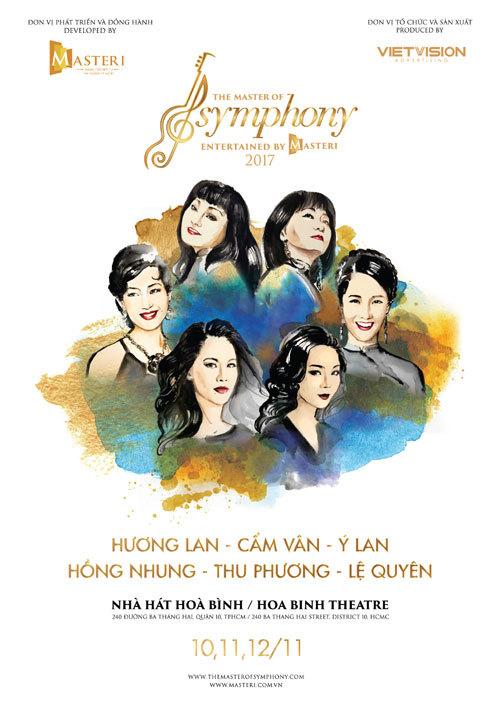 6 'bông hồng' nhạc Việt hội ngộ trong The Master of Symphony
