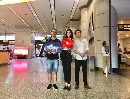 Hình ảnh đầu tiên của Hoa hậu Mỹ Linh tại Miss World 2017