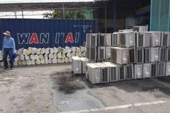 Phát hiện 3 container đựng hàng nghìn máy điều hòa lậu từ Nhật