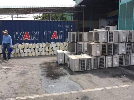 máy điều hòa lậu, điều hòa Nhật Bản, máy điều hòa, máy nóng lạnh, cảng Cái Mép