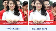 Nữ sinh Hà Nội khoe sắc tại giải bóng đá THPT