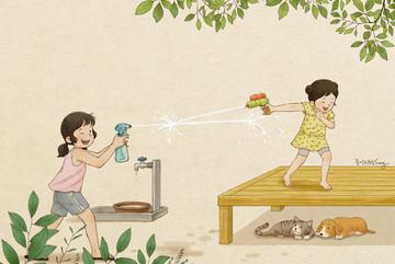 Bộ tranh chứng minh tuổi thơ có chị em gái là điều tuyệt vời nhất