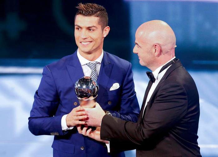 FIFA,Cầu thủ xuất sắc nhất năm,Ronaldo,Messi,Neymar,The Best