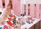 Ngọc Trinh khoe 6 tủ giày hàng hiệu xa xỉ