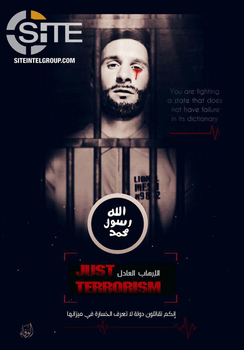 Dùng ảnh Messi, ISIS đe dọa khủng bố World Cup 2018