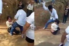 Người đàn ông đánh 1 cô gái dã man khiến dân mạng bức xúc