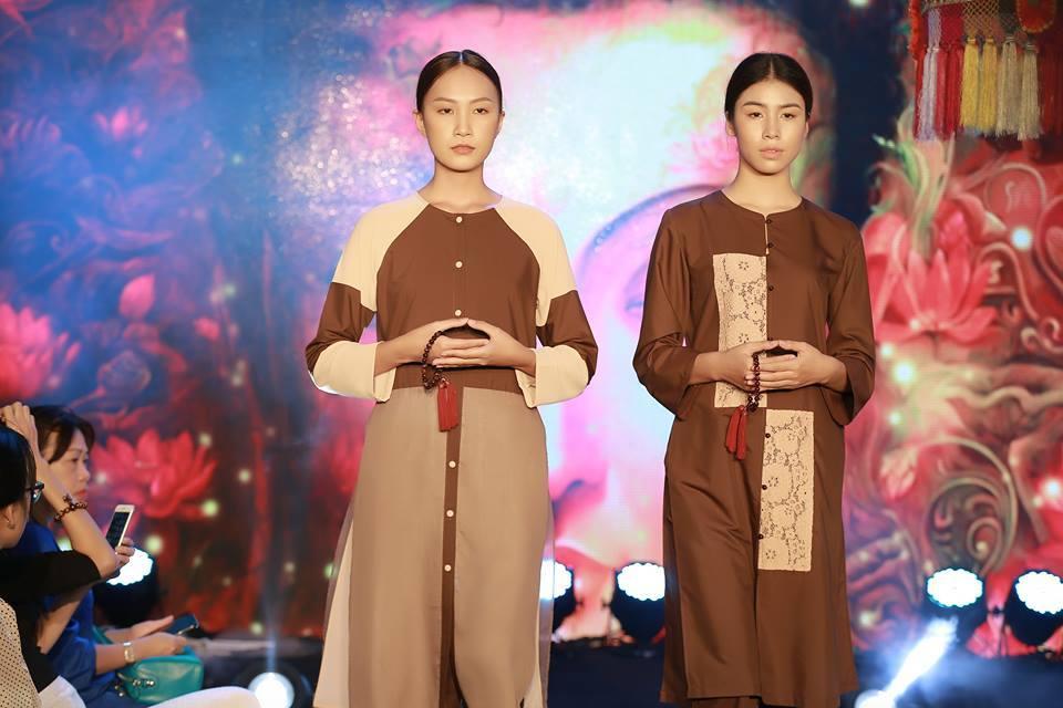 Á hậu Tú Anh khác lạ trong trang phục Phật tử