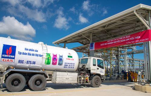 GPP Cà Mau xuất thử nghiệm chuyến hàng LPG đầu tiên