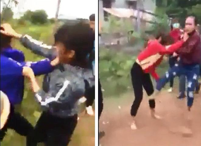 Hai nhóm nữ sinh lao vào đánh nhau giữa đường
