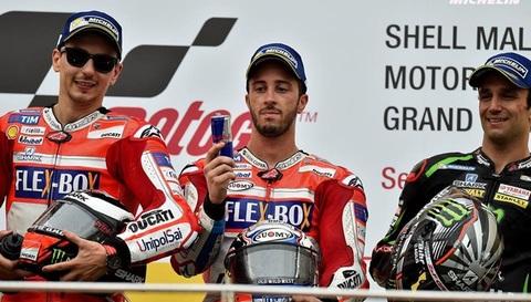 MotoGP Malaysia 2017: Dovizioso lên ngôi, Marquez tiếp tục phải chờ
