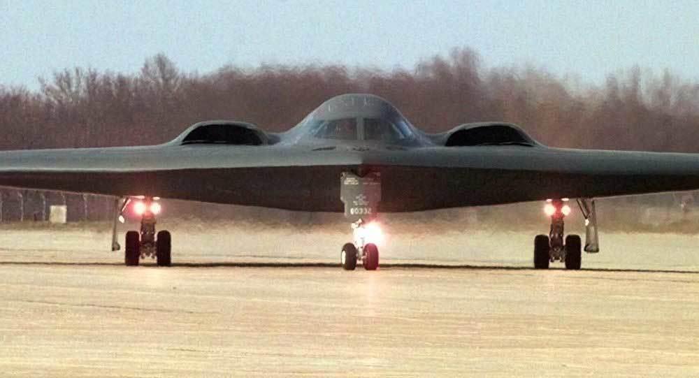 Máy bay ném bom Mỹ tới Thái Bình Dương