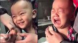 Chết cười với biểu cảm của em bé sau khi bị tiêm