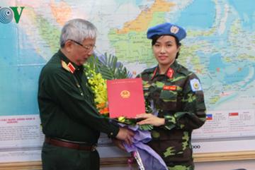 Nữ sĩ quan VN đầu tiên tham gia lực lượng gìn giữ hòa bình LHQ