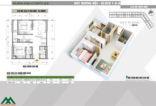 Ra mắt 3 tòa căn hộ trung tâm Xuân Mai Complex