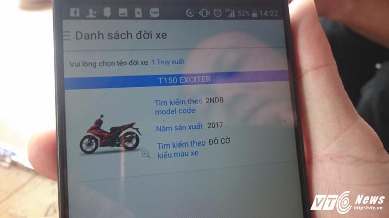 Tự ý sơn lại màu xe Yamaha Exciter bán cho khách với giá cao