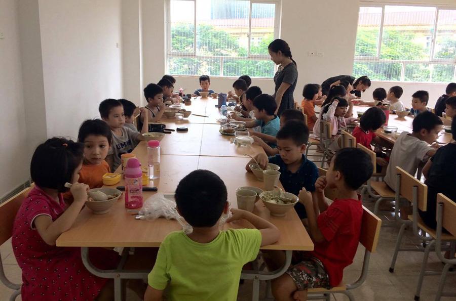 ăn bán trú,vệ sinh an toàn thực phẩm,an toàn thực phẩm trường học