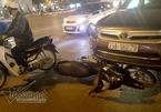 Hà Nội: Xế hộp gây tai nạn liên hoàn, tài xế cố thủ trên xe