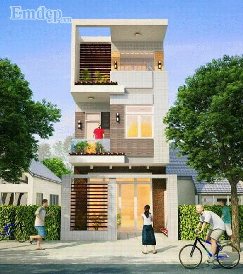 Thiết kế nhà 3 tầng 45,5m2 kinh phí chỉ 660 triệu đồng