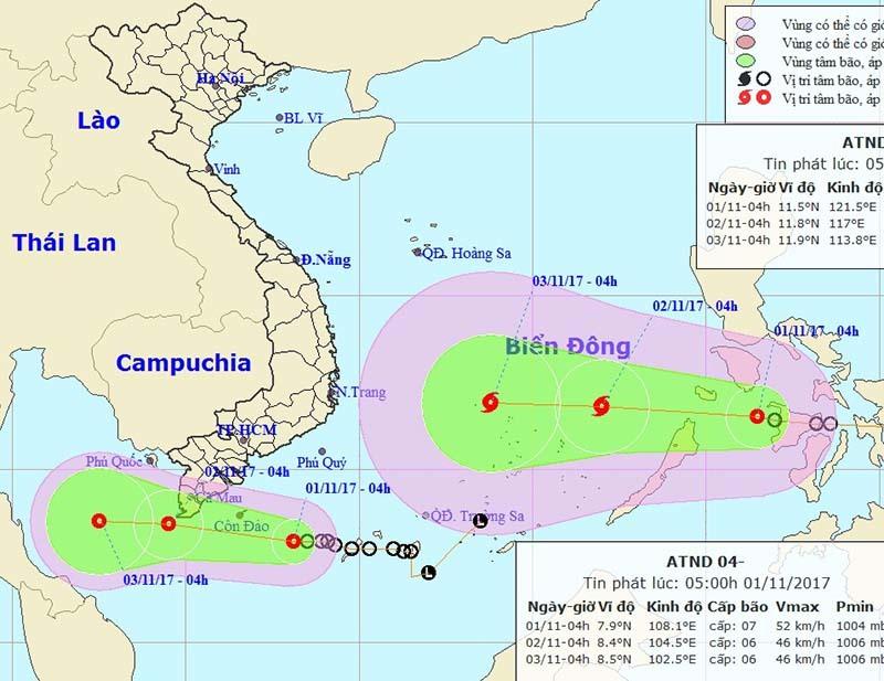 Công điện khẩn của Bộ TT&TT ứng phó với Áp thấp nhiệt đới