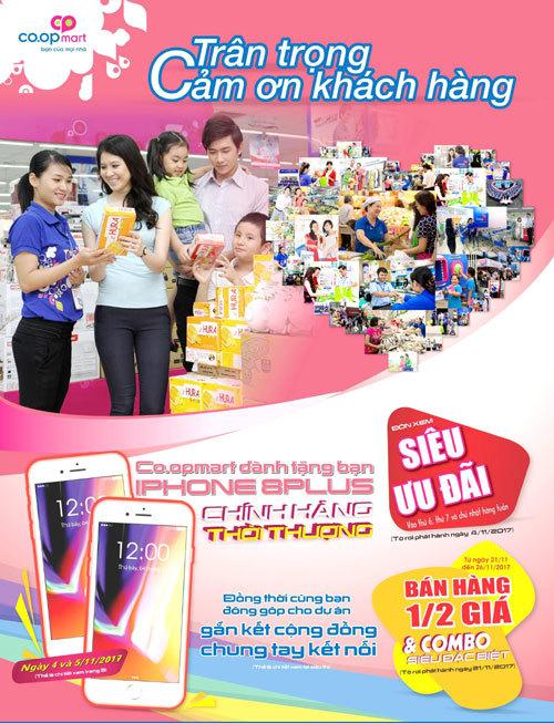32 Iphone 8 dành tặng khách hàng Co.opmart