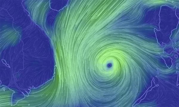 Thời tiết 3/11: Bão số 12 tiếp tục mạnh lên, giật cấp 15