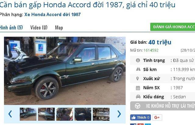 Với 40 triệu đồng, bạn có thể mua xe ô tô cũ chính hãng nào?