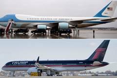 Đọ máy bay mạ vàng của Tổng thống Trump với Air Force One