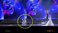 Thí sinh ngã nhào trên sân khấu lọt chung kết Hoa hậu Hoàn vũ Việt Nam