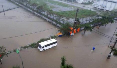 ngập lụt ở Huế