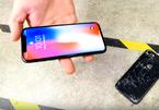 iPhone X cho dao đâm mặt lưng, rơi thoải mái