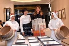 Bà Trump thưởng trà, ngắm ngọc trai tại Nhật