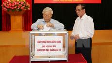 Tổng bí thư, Chủ tịch nước quyên góp ủng hộ khắc phục hậu quả mưa bão