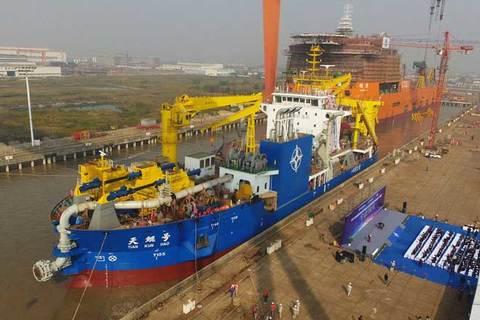 Trung Quốc trình làng tàu xây đảo siêu khủng