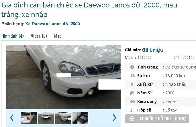 Với 70 triệu mua được ô tô cũ chính hãng nào ở Việt Nam?