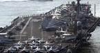 Máy bay đâm trúng thủy thủ trên mẫu hạm Mỹ