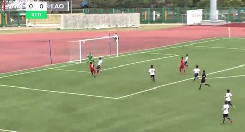 U19 Việt Nam 0-0 U19 Lào phút 11