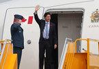 Thủ tướng Canada đăng Twitter khi bay đến Hà Nội
