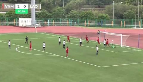 U19 Việt Nam 3-0 U19 Lào: Nam Cung ghi bàn